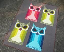 Allie Owl Designer Pattern: Robert Kaufman Fabric Company &  Adamdwight.com