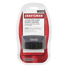 craftsman garage door opener remoteCraftsman Garage Door Opener 3 Function Visor Remote Control