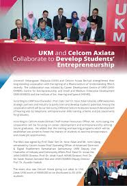 Ukm And Celcom Axiata Collaborate To Develop Students