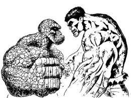 Small Picture Hulk The Thing Coloring Pages Bebo Pandco