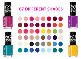 Rimmel 60 Seconds Super Shine Nail Polish 8ml Select Shade