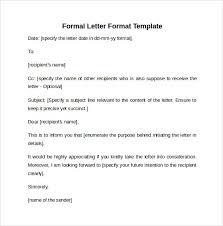 Formal Letter Format Samples Formal Letter Format 9 Free Samples Examples Formats