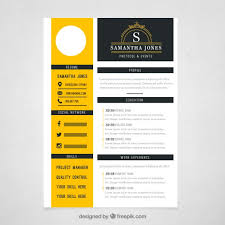 Unique Resume Templates Free Stunning Yellow Resume Template Free Vectors UI Download