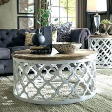 reclaimed wood round coffee table tables restoration hardware