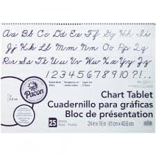 Chart Tablets 24x32 Assorted 1 1 2 Inch Ruled Top3820