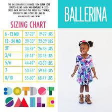 Dot Dot Smile Size Chart Dds Size Chart Ballerina Dress Dot Dot Smile In 2019