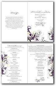 Booklet Program Template 016 Wedding Ceremony Booklet Template Free Singular Ideas