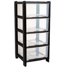 wham deep 4 drawer plastic storage