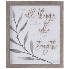 all things through christ framed wall