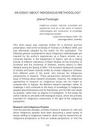 an essay about indigenous methodology pdf available