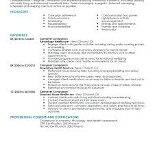 Caregiver Resume Samples Elderly Sarahepps Com
