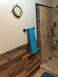 this bathroom pallet wood wallss project puts traditional wainscoting to shame