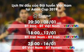 Như vậy, trung quốc và các đội. Lịch Thi Ä'ấu Va Tường Thuật Trá»±c Tiếp Của Ä't Việt Nam Tại Asian Cup 2019 Vtv Vn
