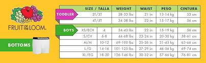 Hanes Boys T Shirt Size Chart 55 All Inclusive Fruit Of The Loom Boxer Brief Size Chart