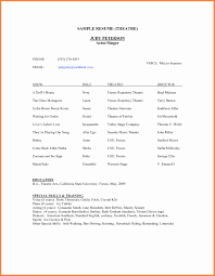 Google Docs Resume Resume Templates Google Inspirational Acting Resume Template 73