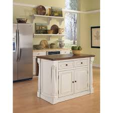 antique white sanded distressed kitchen island hover to zoom