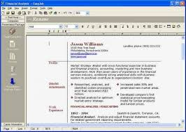 Free Resume Creator Software