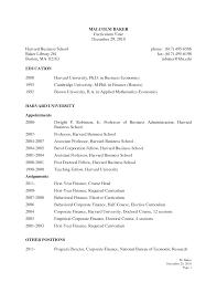 Harvard Business School Resume Template Resume For Your Job