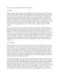 Australia Essay Australia Essay
