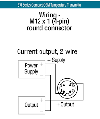 810 series compact oem temperature transmitters thermowells · wiring diagram