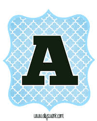 Letter For Banner Blue And Black Printable Letters For Banners Letters Printable