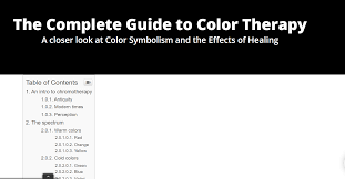Chromotherapy Color Chart The Complete Guide To Color Therapy Iristech
