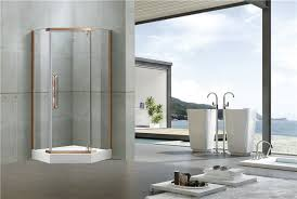 stainless steel pivot shower doors nano self cleaning tempered glass for villa