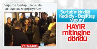Sertab Erener vapurda İzmir Marşı söyledi