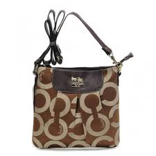Coach In Signature Medium Coffee Crossbody Bags BEI