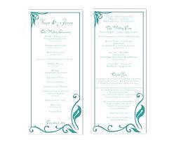 Free Download Wedding Program Template New Editable Text