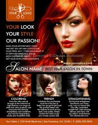 Hair Salon Flyer Templates Voor De Achterkant Lay Outhair Salon Flyers Promotional Hair Stylist