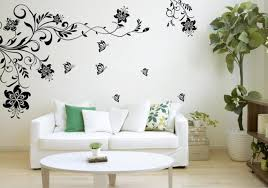 Small Picture Black Floral Wall Decal For Modern Family Room Inspiration Ideas