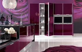 Purple Kitchen Purple Full View Kitchen