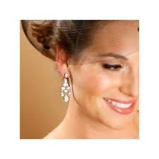 cz bridal chandelier earrings cz bridal chandelier earrings with pear drop
