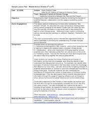 Middle School Lesson Plan Template School Lesson Plan Template Commonpenceco Intended For Middle 1