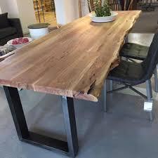 Esstisch Baumkante 240 X 100 Cm Esszimmertisch Baumstamm Massivholz