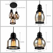 Edison Light Fixtures Canada Galygg Antique Black Shade Glass Jar Pendant Lights E26