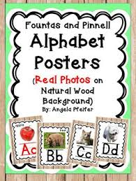 Alphabet Posters Linking Chart Bundle Photos Wood Border Fountas And Pinnell