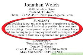 What To Put In Summary Of Resume How Do I Write A Good Resume What