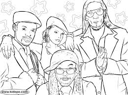 Small Picture Black Eyed Peas Coloring Page Bebo Pandco