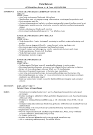 Entry Level Graphic Design Jobs In Phoenix Az Junior Graphic Designer Resume Samples Velvet Jobs