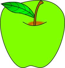 green apple clipart. green apple clip art clipart m