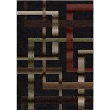 orian rugs indoor outdoor lines ton black area rug 7 8 x 10 10