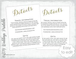 Hotel Accommodations Cards Accommodation Cards For Wedding Invitations Template Hotel