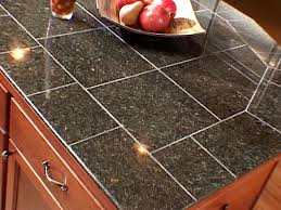 Kitchen Countertop Tile The Pros And Cons Of Granite Tile Diy