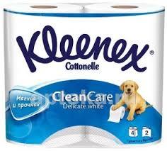 <b>kleenex clean</b> care delicate white <b>туалетная бумага</b> двухслойная n4