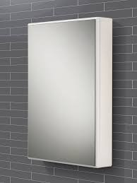 White Mirrored Bathroom Cabinets Hib Tulsa Slimline Single Door Mirrored Cabinet 500 X 700mm 9101600