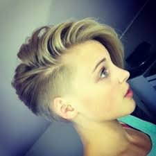 short hairstyles with both sides shaved