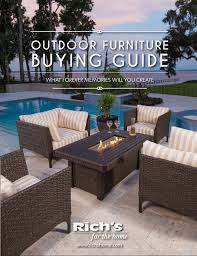 richs outdoor furniture guide