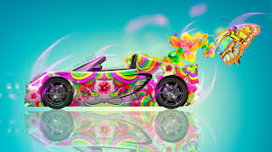 lotus elise fantasy flowers car